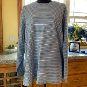 Lands end long sleeve thick soft stretch cotton